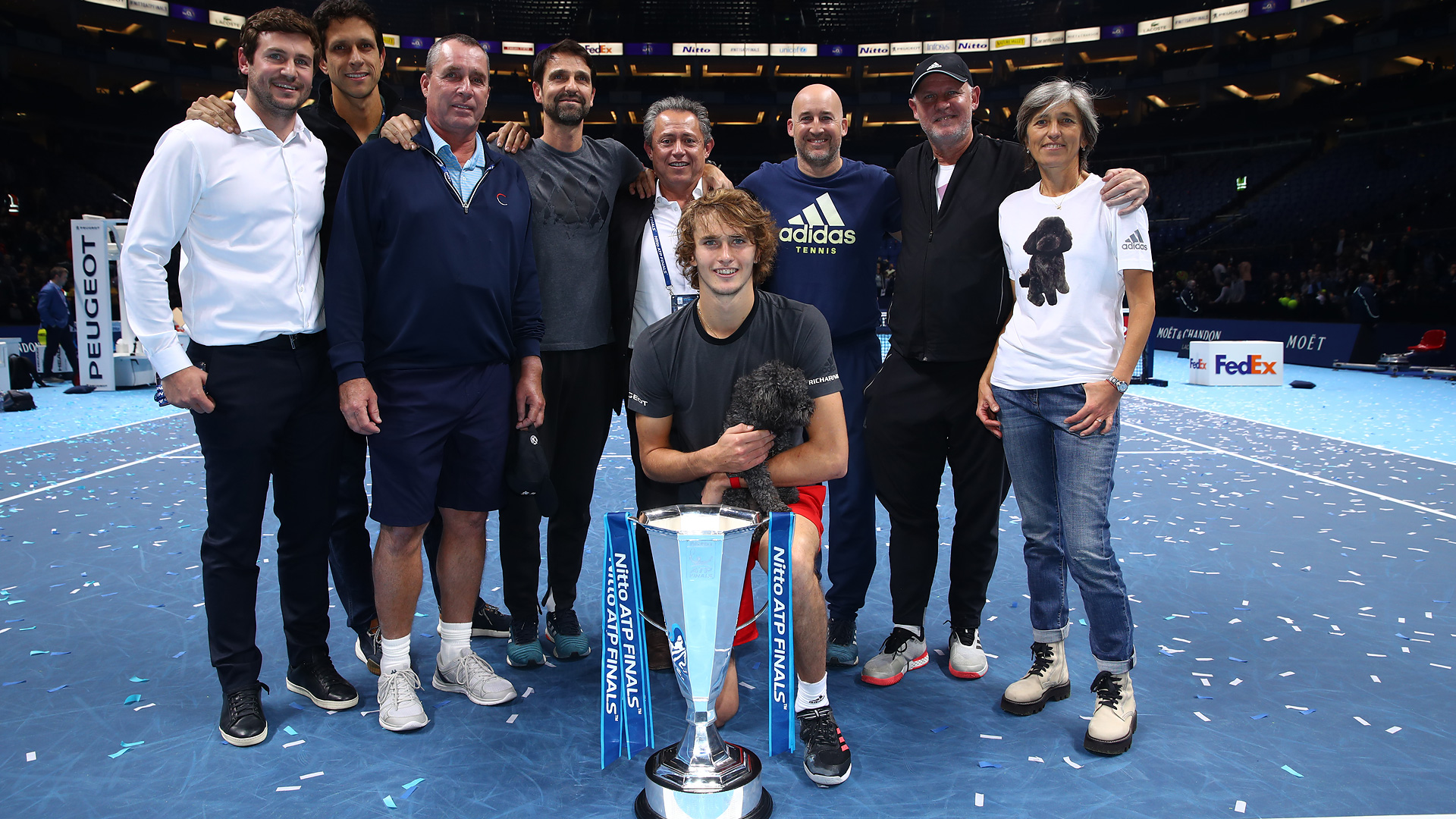 Zverev and his team