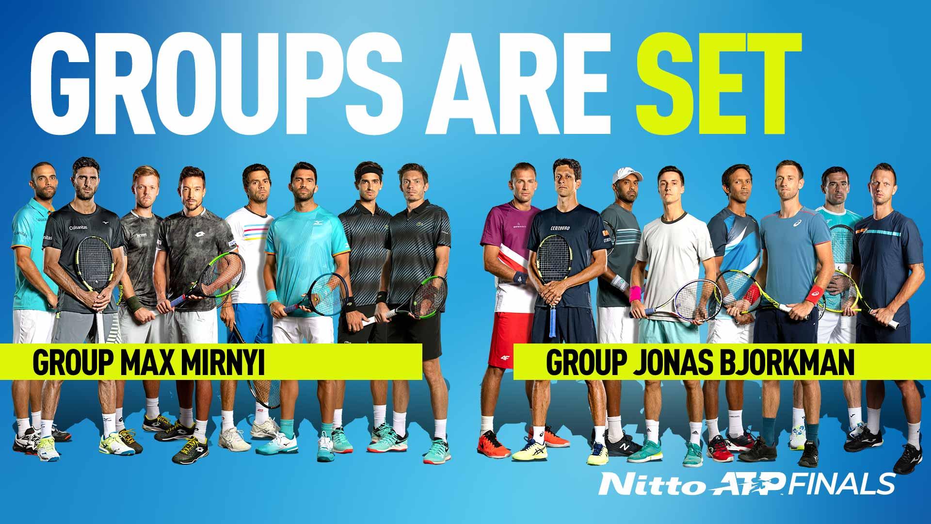 Результаты жеребьевки Итогового турнира ATP в парном разряде