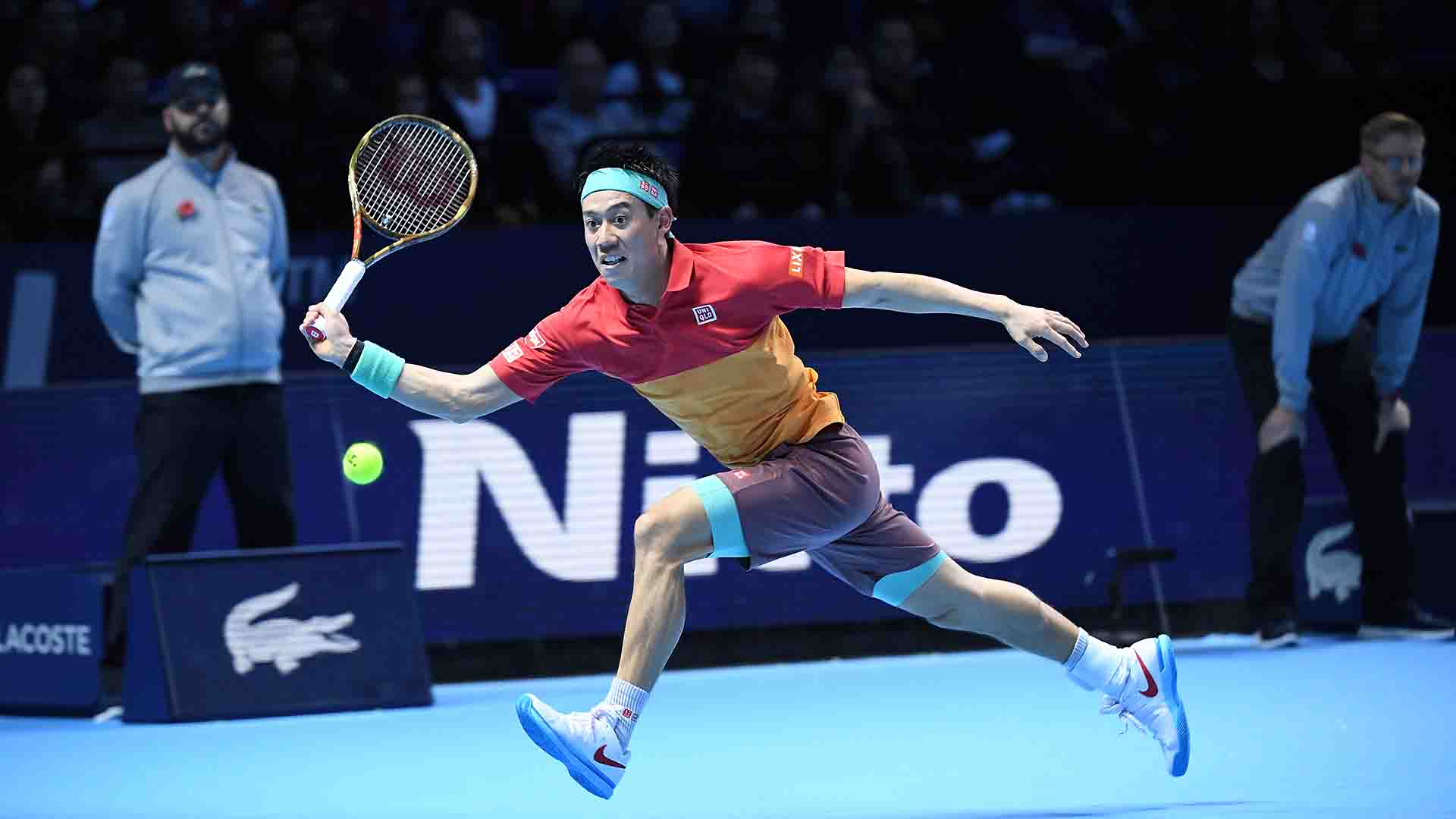 08 Nishikori Nitto ATP Finals 2018 Sunday Defend