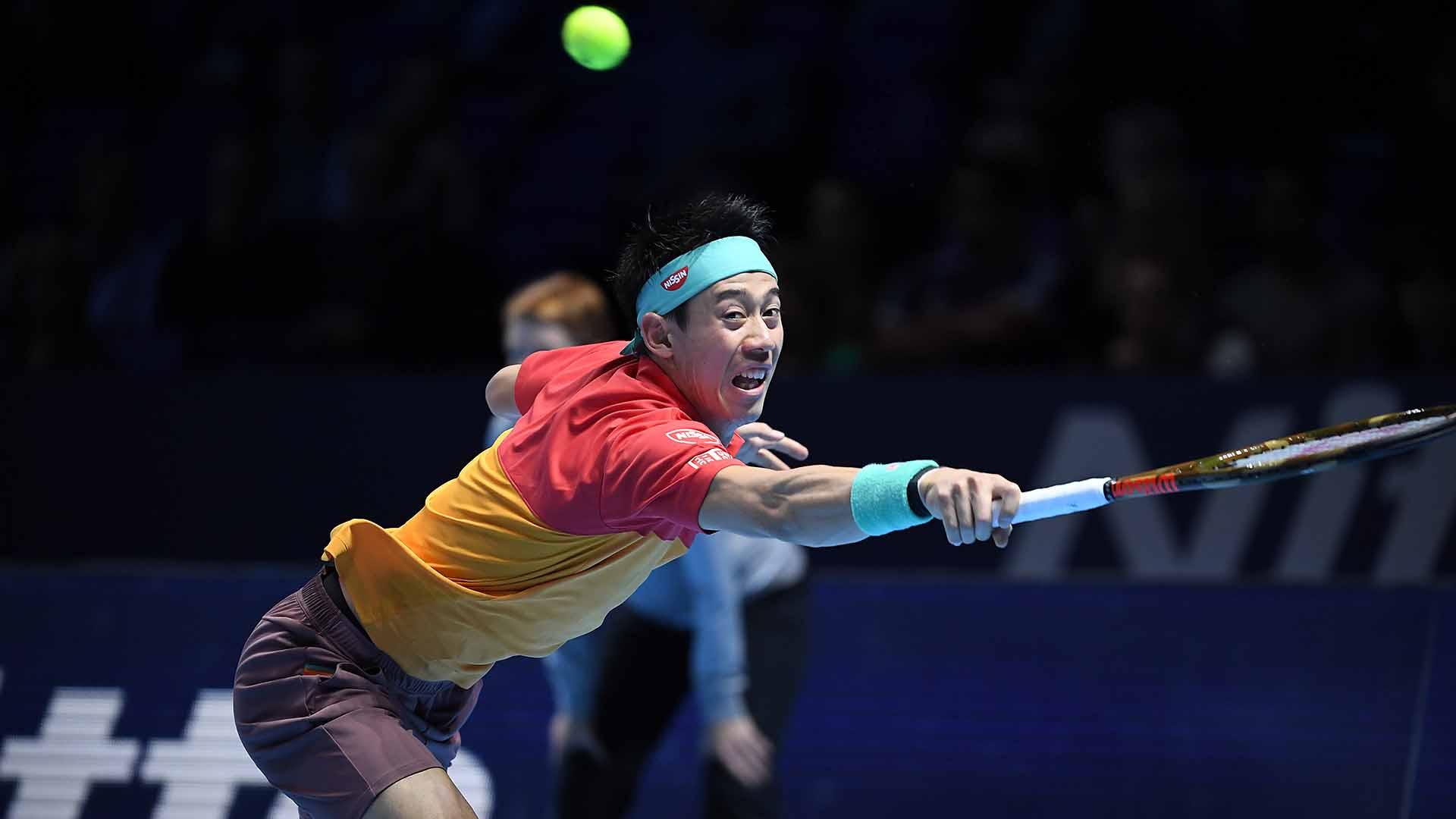 06 Nishikori Nitto ATP Finals 2018 Tuesday Stretch